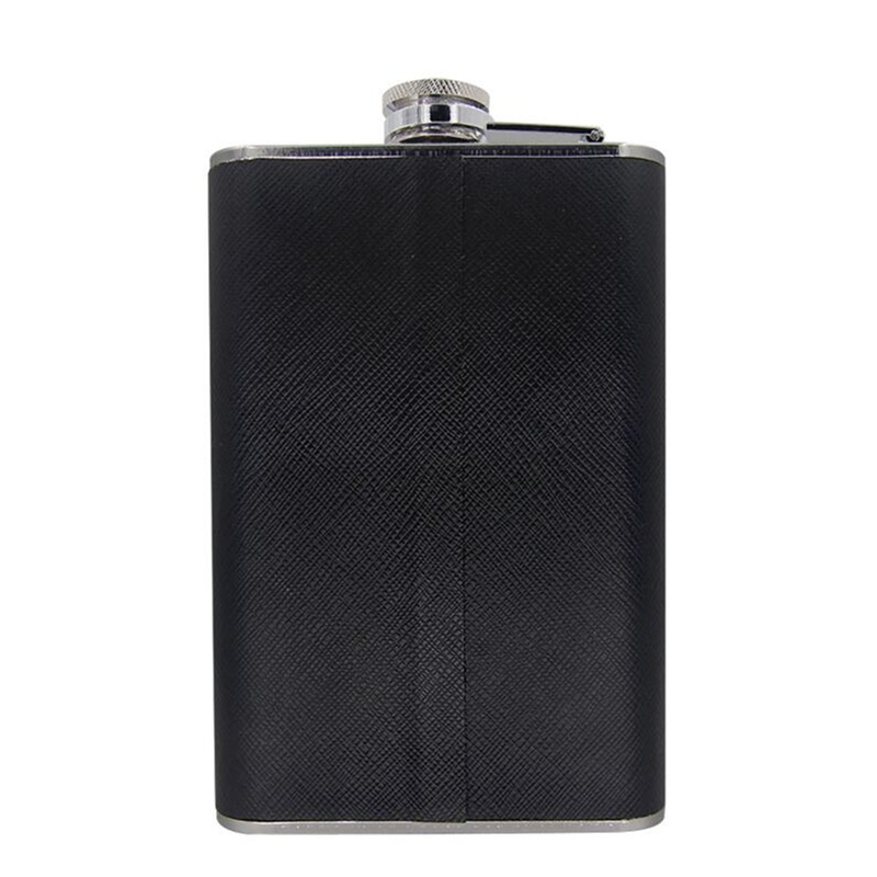 8oz Flagon Hip Flask Outdoor Wine Pot Whiskey Stainless Steel Folding Cup Leak Proof Funnel