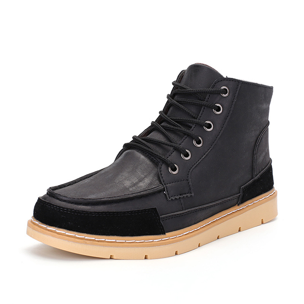Winter Men Boots High Top Casual Outdoor Keep Warm Fur Lining Shoes