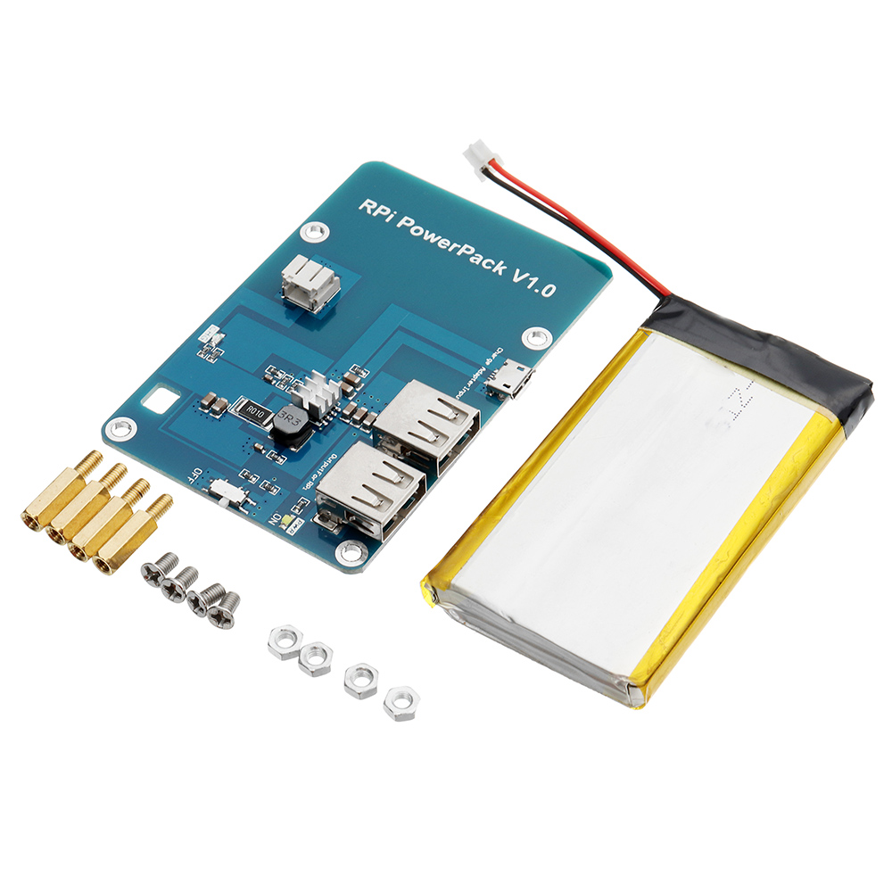 RPI Powerpack V1.0 Lithium Battery Expansion Board For Cell Phone / Raspberry Pi 3 Model B / Pi 2B / B+