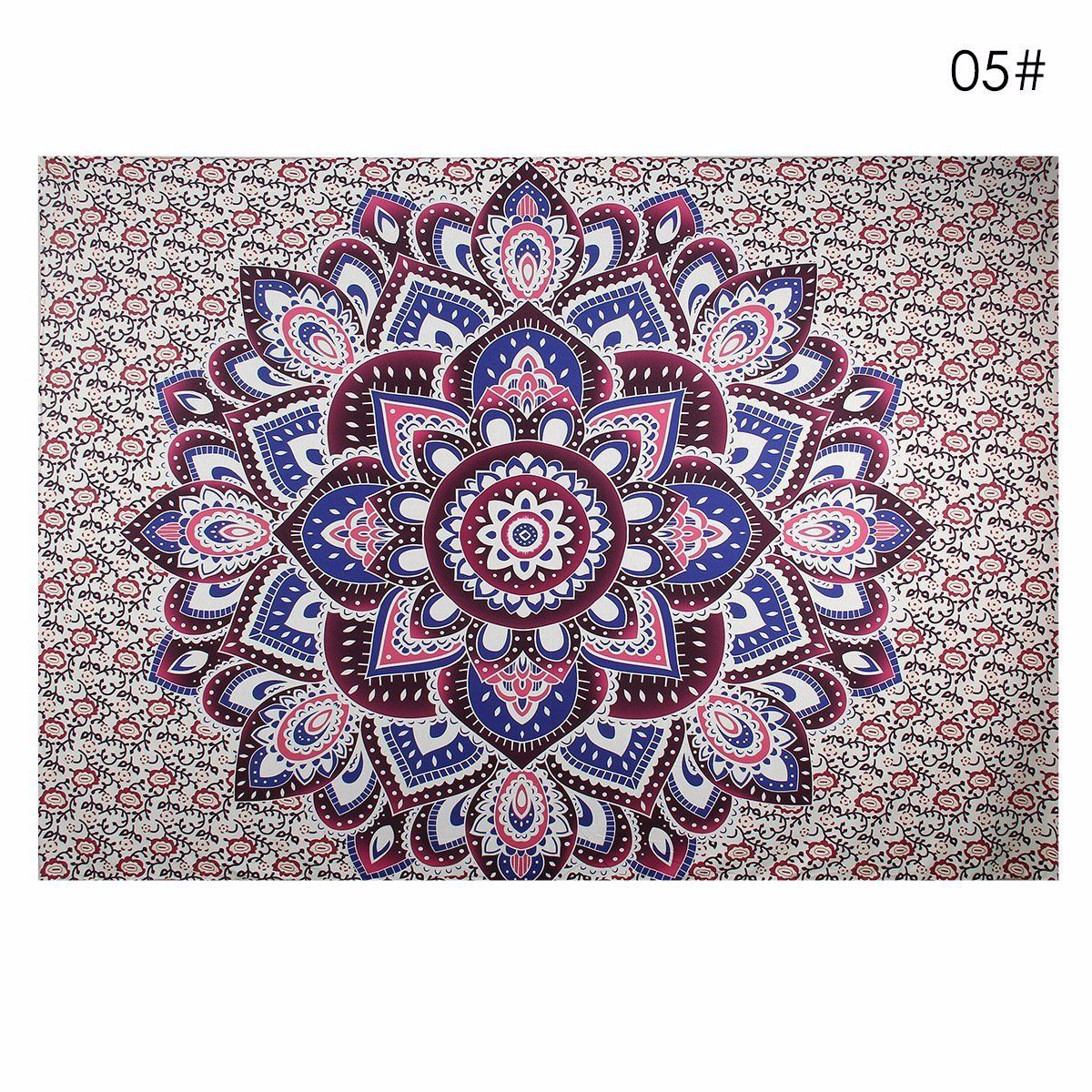 Indian Decor Mandala Beach Towel Tapestry Wall Hanging Hippie Bohemian Dorm Bedspread