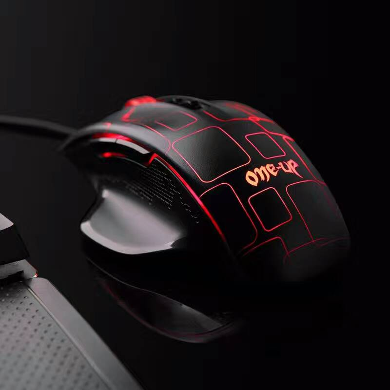 Original One-up G6 4000DPI 6 Buttons A3050 Chips USB Wired Backlit Computer Gaming Mouse