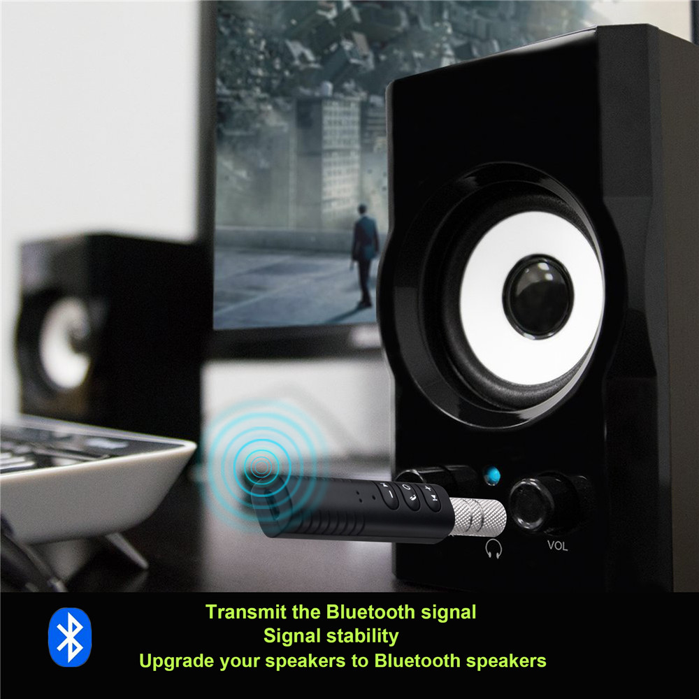 Bakeey bluetooth 3.5mm AUX Car Kit Wireless Audio Adapter Receiver For Phone Tablet Speaker Car Kit