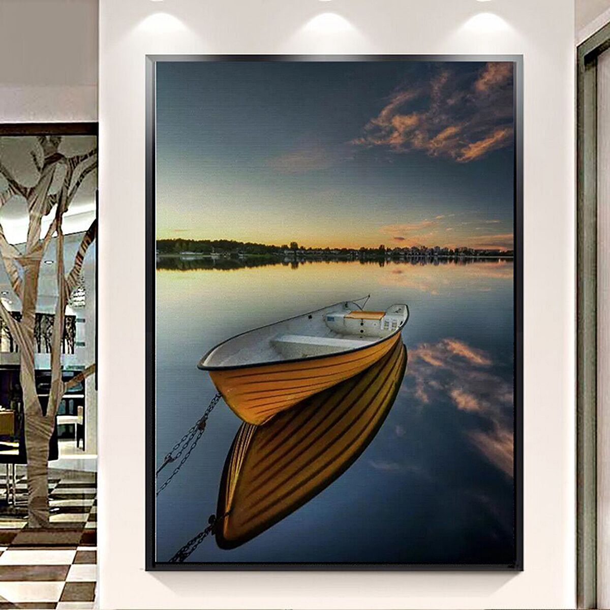 40X30CM Sea Boat Modern Art Painting Canvas Home Wall Decoration No Frame