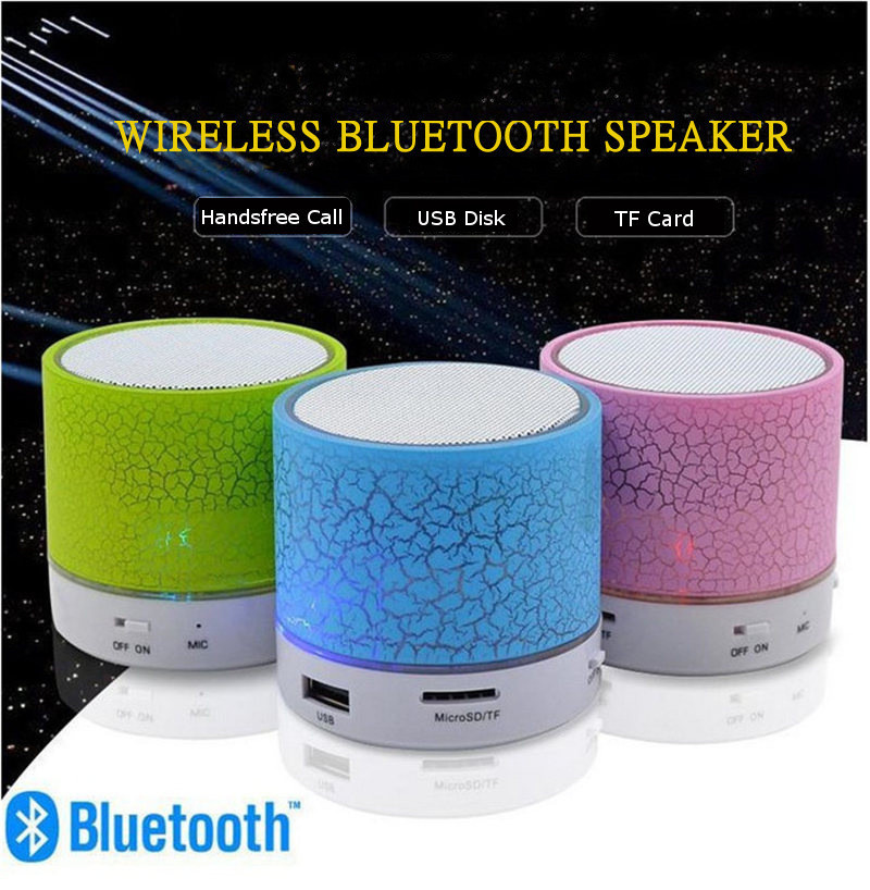 4 Colors Mini Wireless Portable Subwoofer USB Music Sound Hand-free Call LED Car bluetooth Speaker