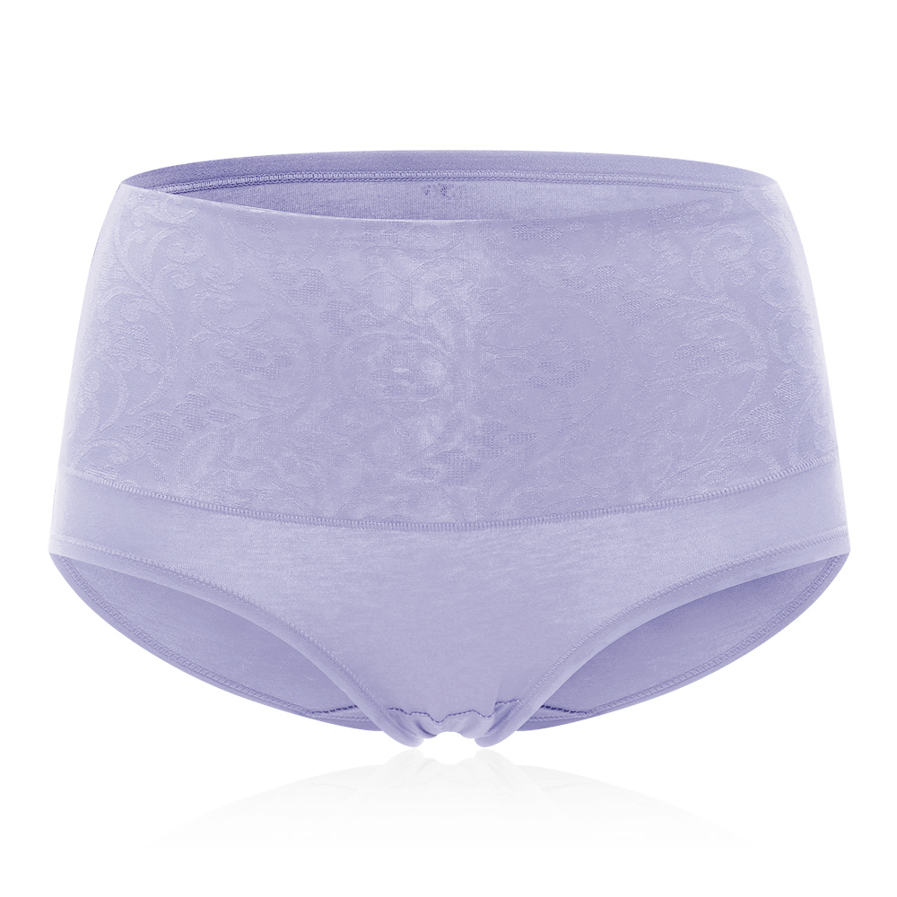 4XL Plus Size High Waist Jacquard Cotton Panties