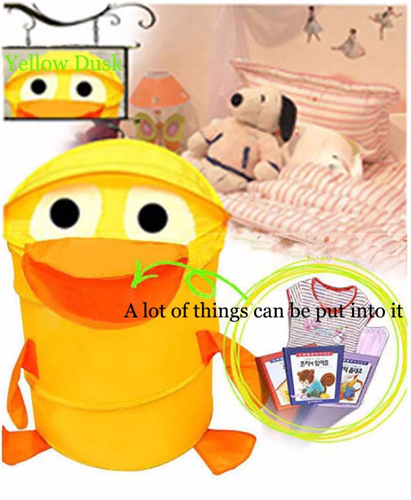 Folding Cartoon Storage Basket Dirty Clothes Laundry Organizer Basket Kids Toy Storage Bag