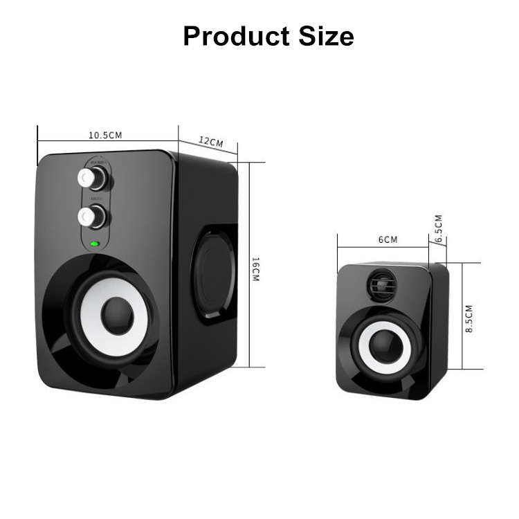 2.1 Stereo Speaker USB 3.5mm Aux Heavy Bass For Mobile Phone Computer Laptop