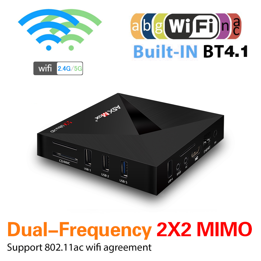 A5X MAX PLUS RK3328 4GB RAM 32GB ROM Android 7.1 5.0G WIFI 1000M LAN bluetooth HDR 10 USB 3.0 TV Box
