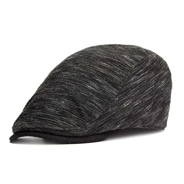 Mens Unisex Vintage Solid Beret Hat Casual Outdoor Sunscreen Gentleman Flat Golf Caps