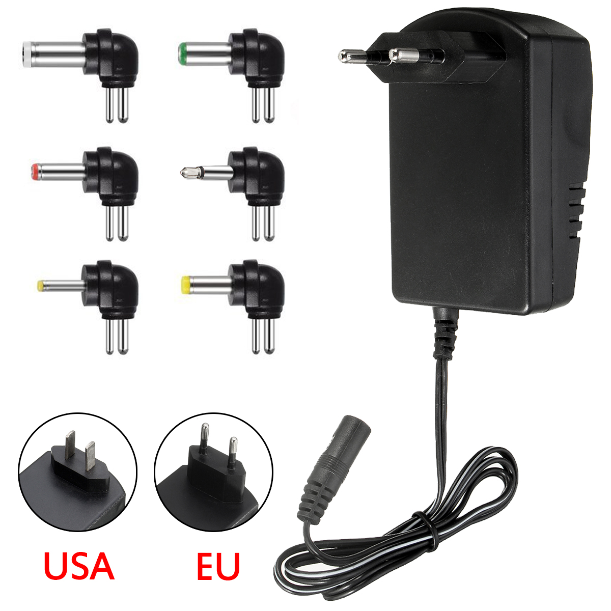 Multi Voltage Power Adapter 2500mA 3v 4.5v 6v 9v 12v DC Power Supply