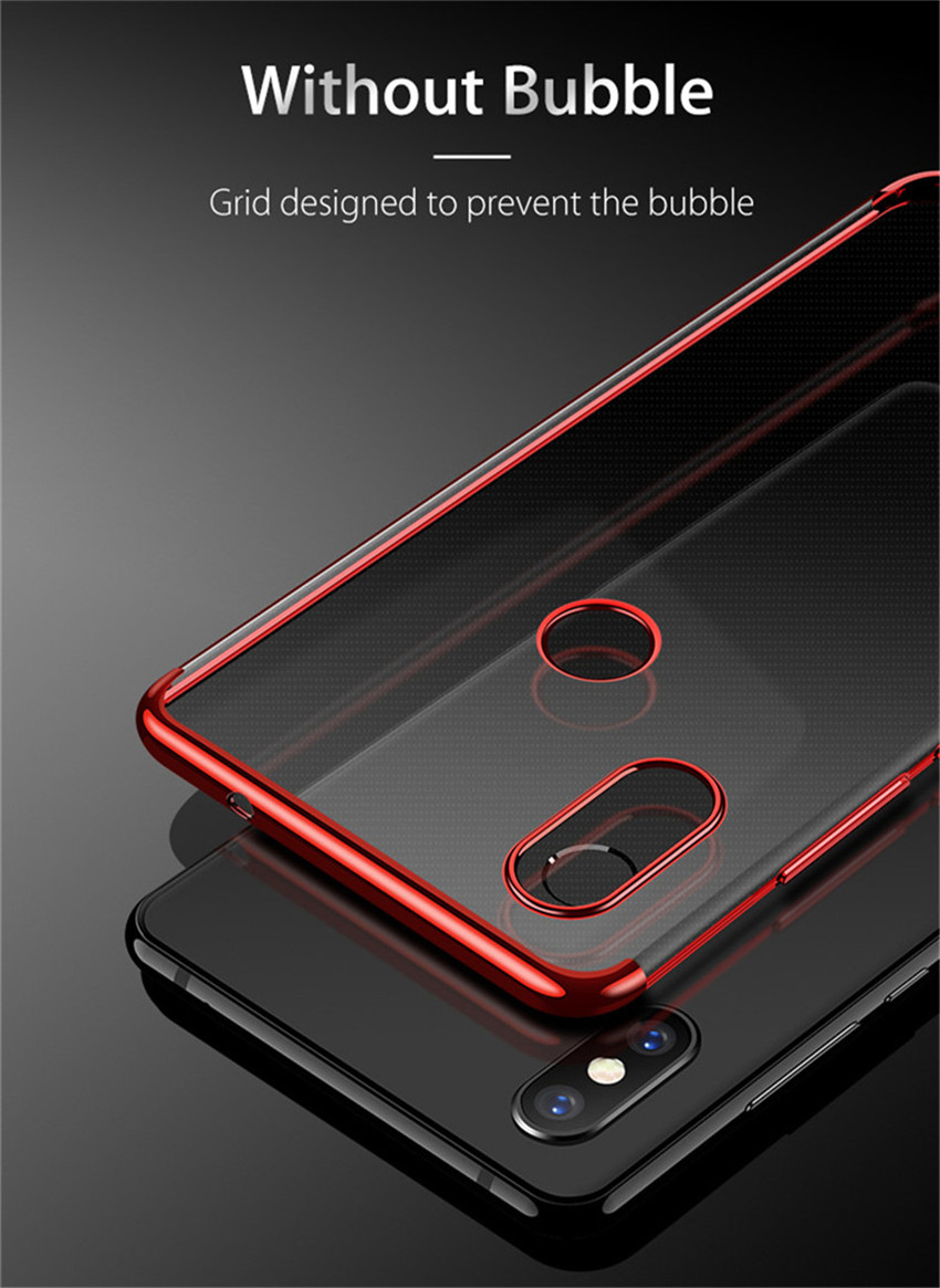 Bakeey™ Plating Shockproof Soft TPU Back Cover Protective Case for Xiaomi Redmi 6 Pro / Mi A2 Lite
