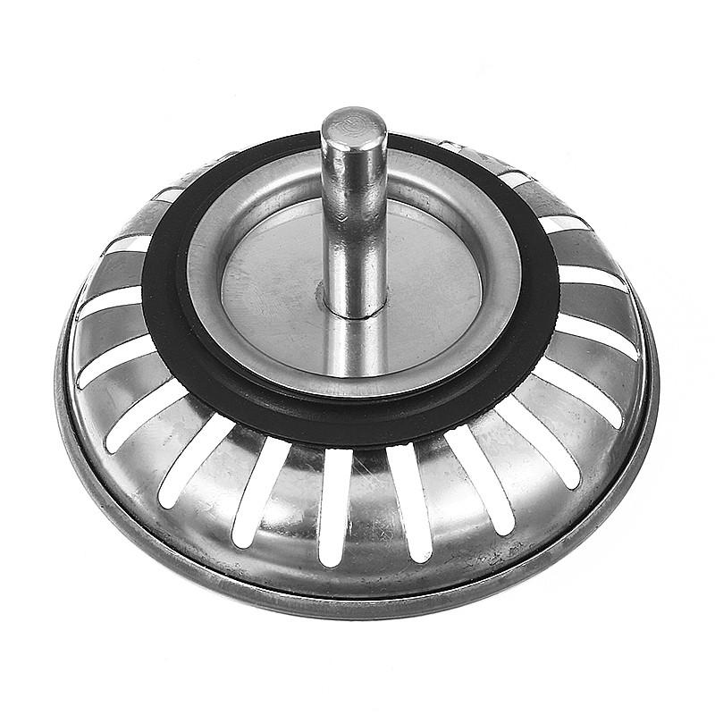 304 Stainless Steel Kitchen Bathroom Basin Sink Strainer Stopper Drain Waste Plug