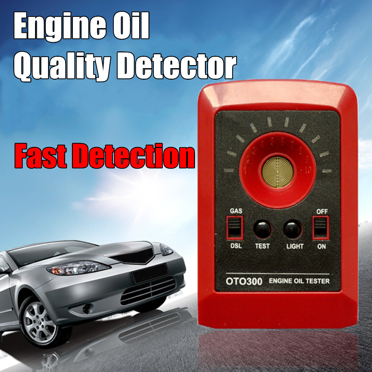 Digital Tester Motor Engine Oil Quality Detector Gas Diesel Fluid Analyzer