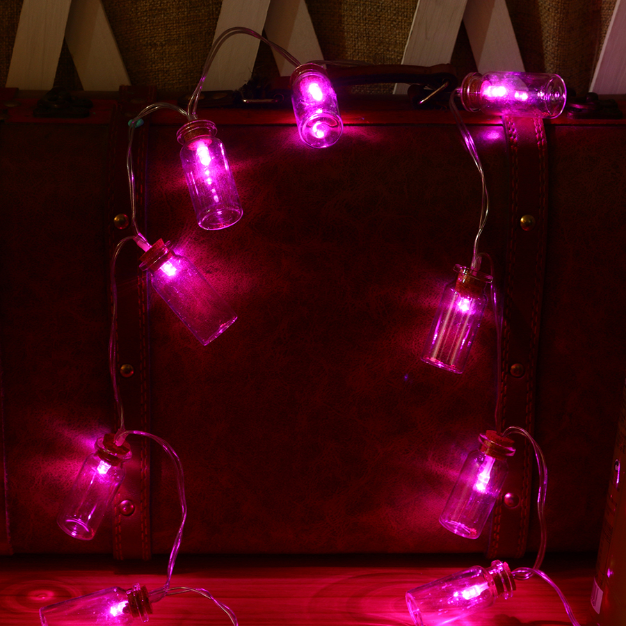 KCASA 1.2M 10 LED Glass Bottles String Lights LED Fairy Lights for Festival Christmas Halloween Party Wedding Decoration Battery Powered