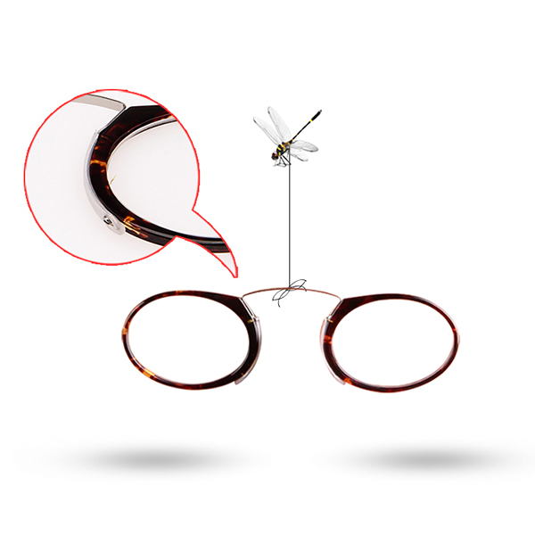 Mini Ultralight Clip Nose Reading Glasses