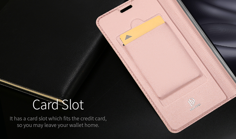 DUX DUCIS Flip Shockproof PU Leather Card Slot Full Body Cover Protective Case for Xiaomi Mi8 Lite Mi 8 Lite