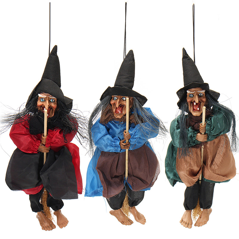 Halloween Decorations Witch Props Eyes Bright Laughing Sound Control Toys