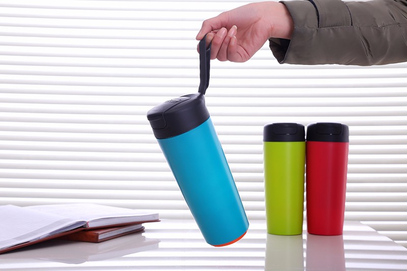 500ML Creative Vacuum Insulation Cup With Magic Sucker Push Not Pour Stainless Steel Water Bottle
