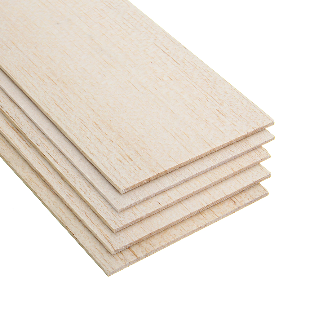 310x100mm 5Pcs Balsa Wood Sheet 7 Thickness Light Wooden Plate for DIY Airplane Boat House Ship Model