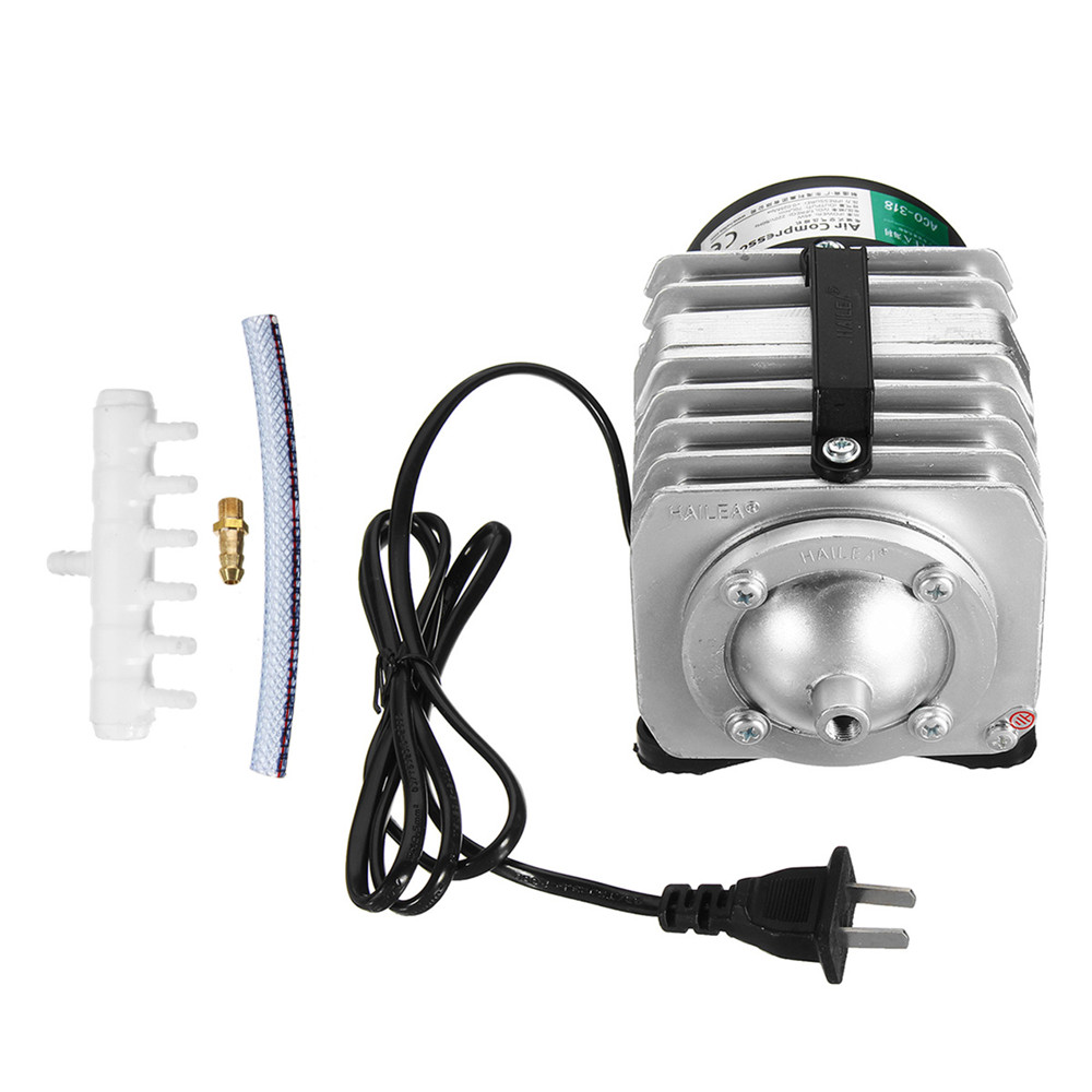 45W 220V 70L/Min Portable Electromagnetic Air Compressor Air Pump For Aquarium Hydroponic Systems