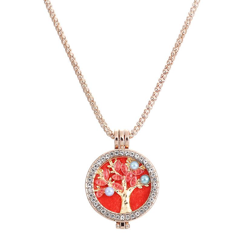 Trendy Rhinestone Fragrance Necklace