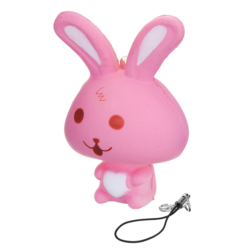 Squishy Rabbit Bunny 8cm Soft Slow Rising Phone Bag Strap Decor Collection Gift Toy