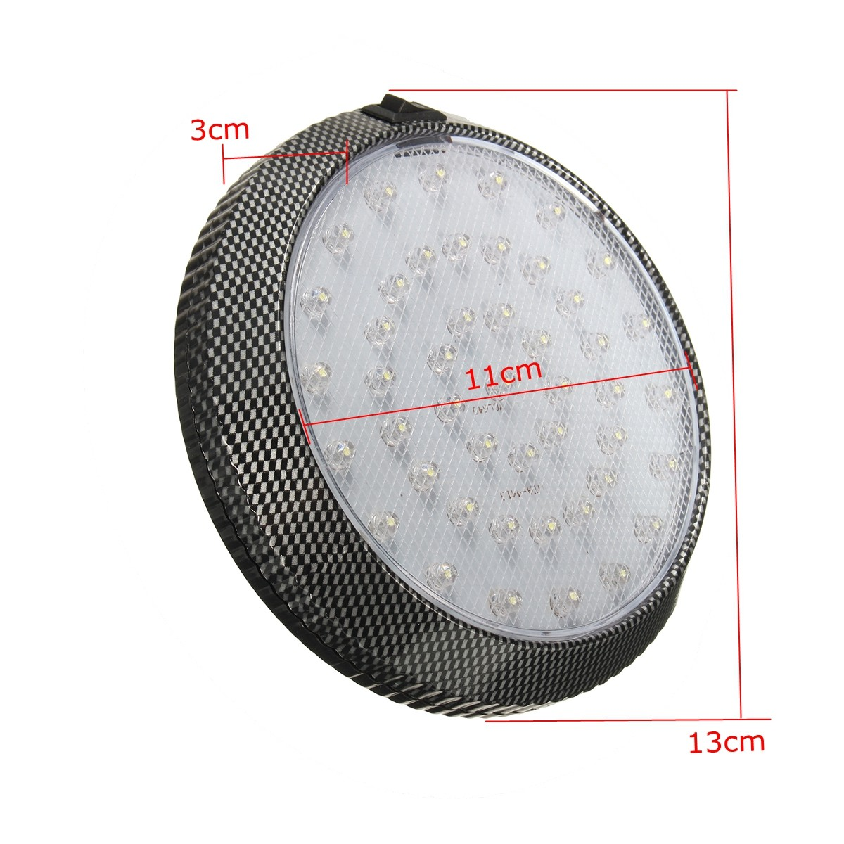 Round Car LED Interior Roof Lights Ceiling Dome Door Indication Reading Lamp 12V 13cm
