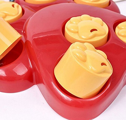 Multifunction Pet Bowl Feeder Toy 7 Holes Dog Paw Educational Training Toys Puppy Puzzle Toys