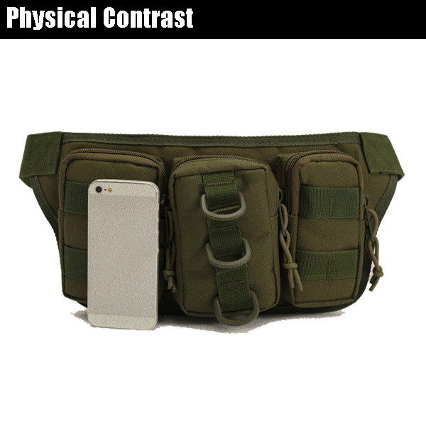 Men Nylon Outdooors Sportscamouflage Waist Bag Multifunctional Cycling Travling Waist Bag