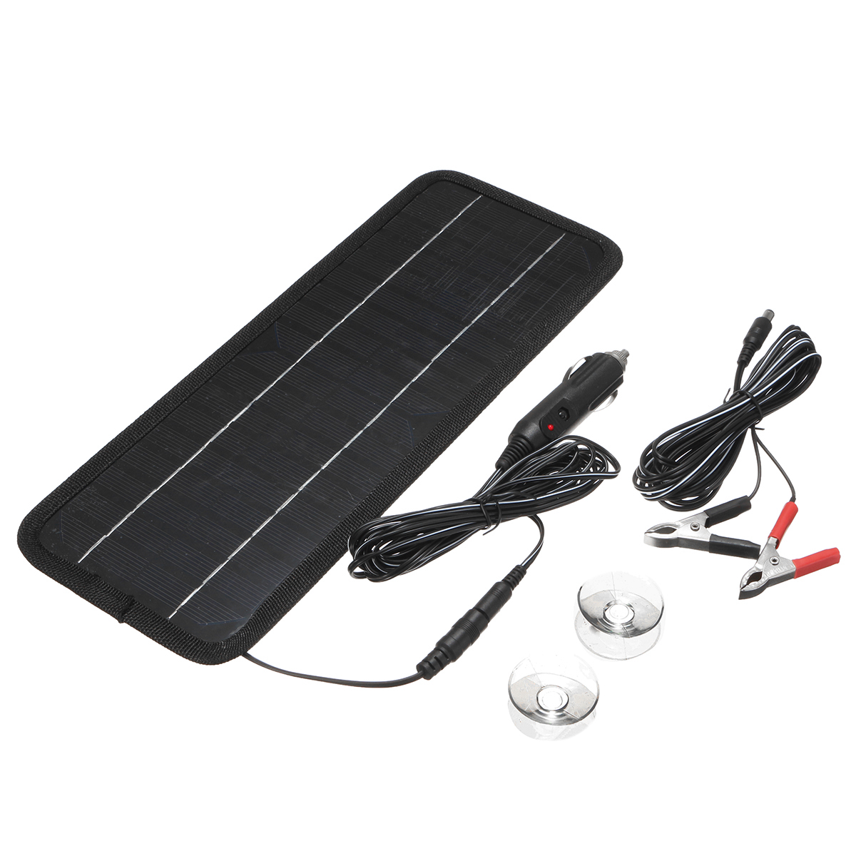 12V 4.5W Portable Monocrystalline Solar Panel For Car Automobile Boat Rechargeable Power Battery