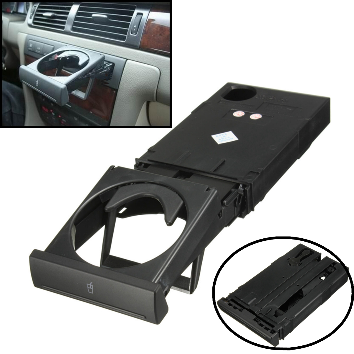Car Auto Drink Cup Bottle Holder Stand For Audi C5A6 98-05 A4B6 98-02 4B0862534D