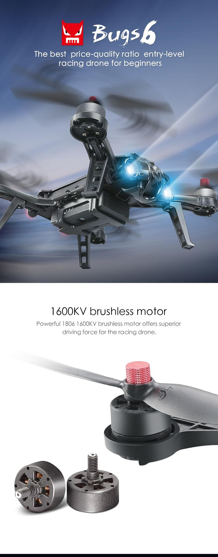 MJX B6 Bugs 6 Brushless With 5.8G FPV Camera 3D Roll Racing Drone RC Quadcopter RTF