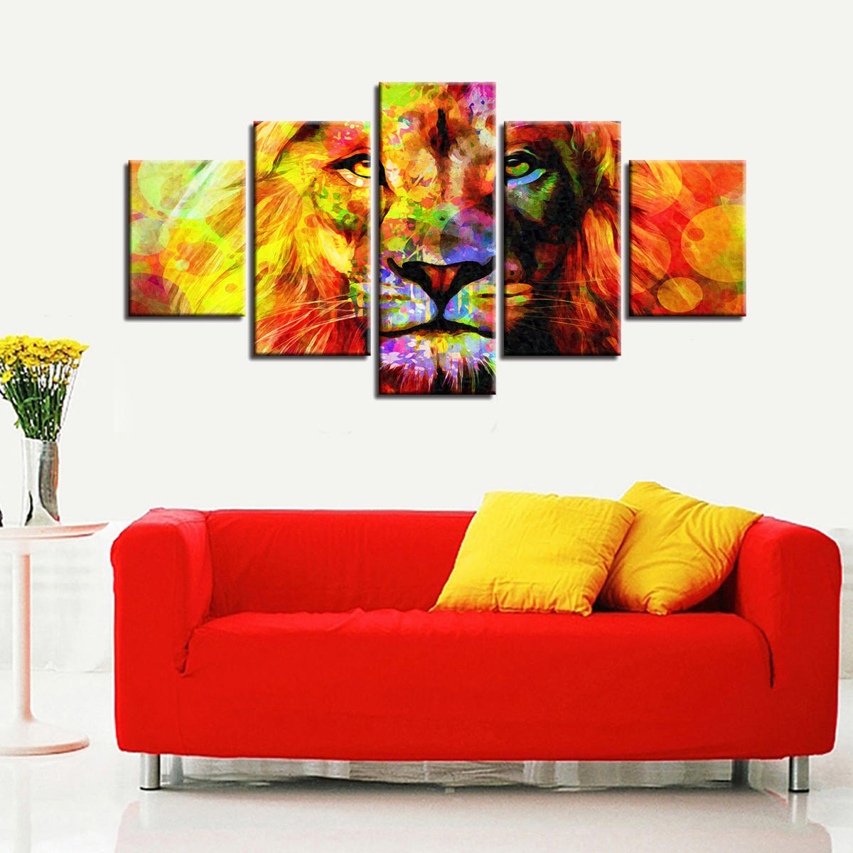 Unframed Colorful Lion Modern Art Canvas Paintings Picture Print Home Wall Decor