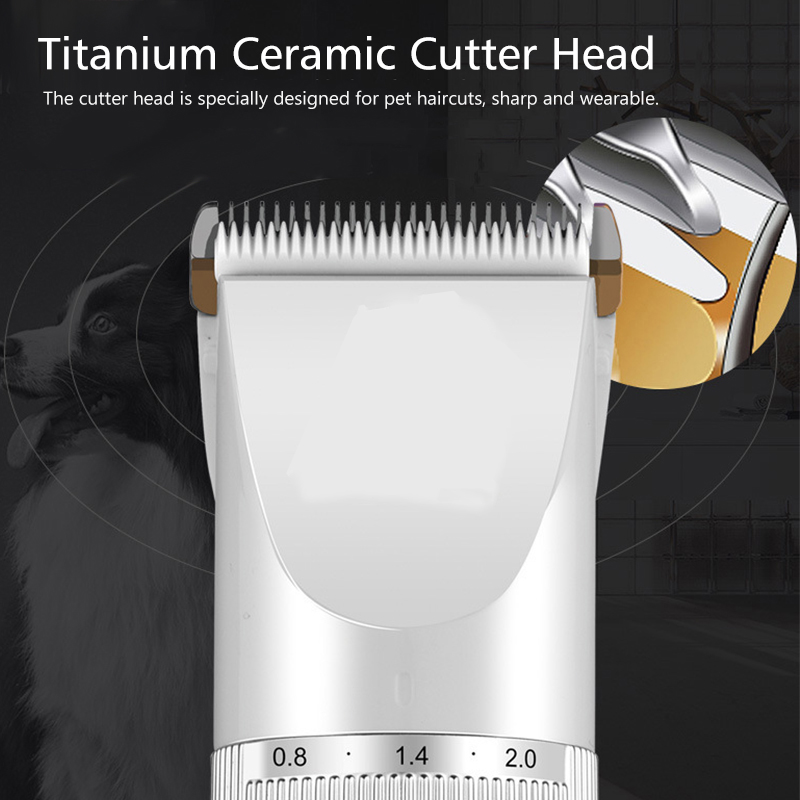LCD Rechargeable Pet Hair Trimmer Low-noise Cordless Electric Clipper Hair Remover Cutter with Comb for Cat Dog Grooming Tools