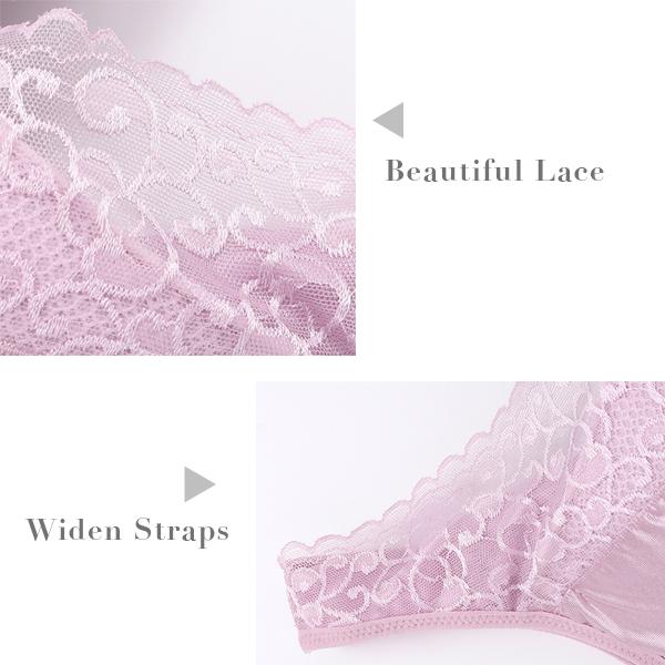 Sexy Lace Wire Free Deep Plunge Longline Bra