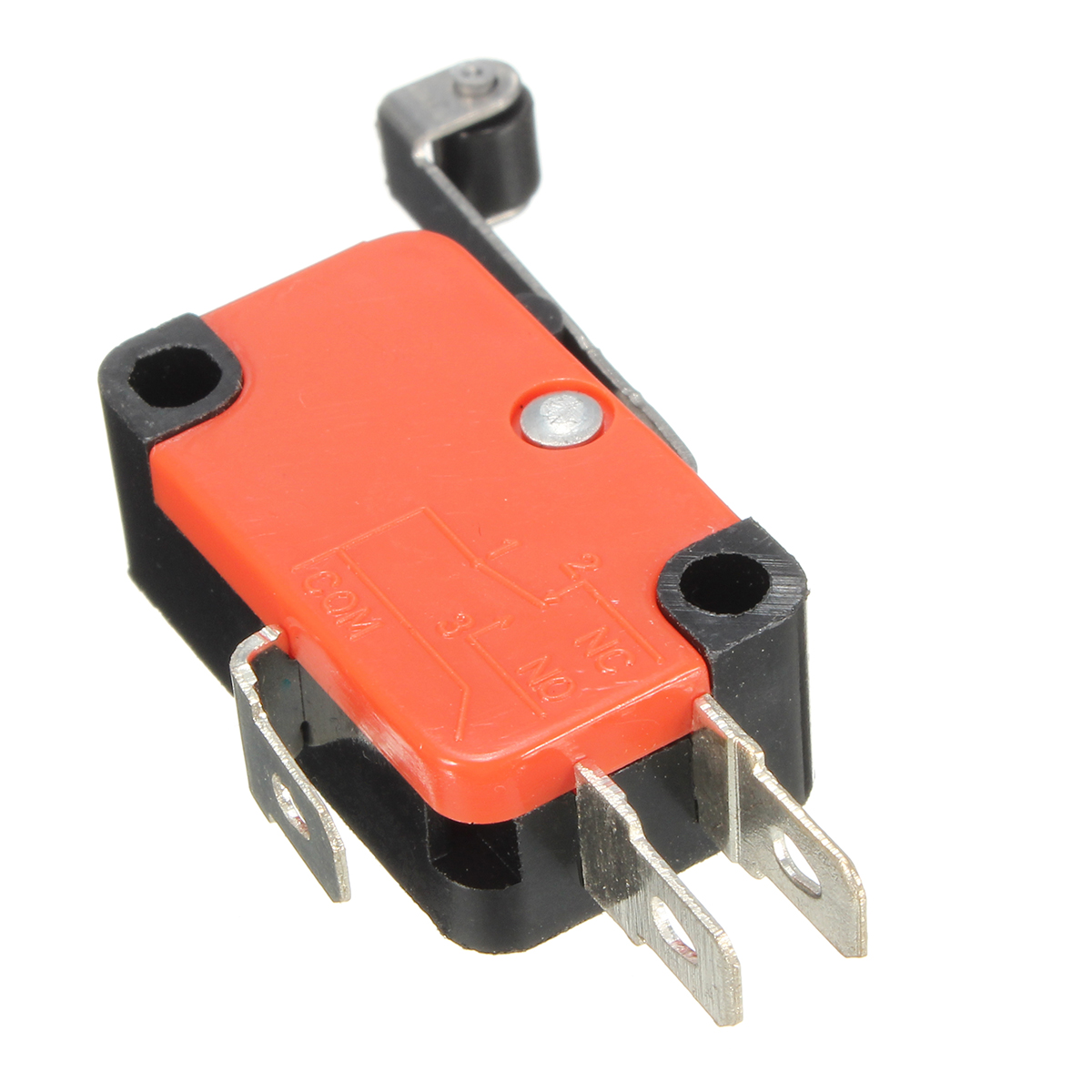 10pcs Micro 3Pins Limit Long Roller Lever Contact Switch SPDT AC125~250V 15A