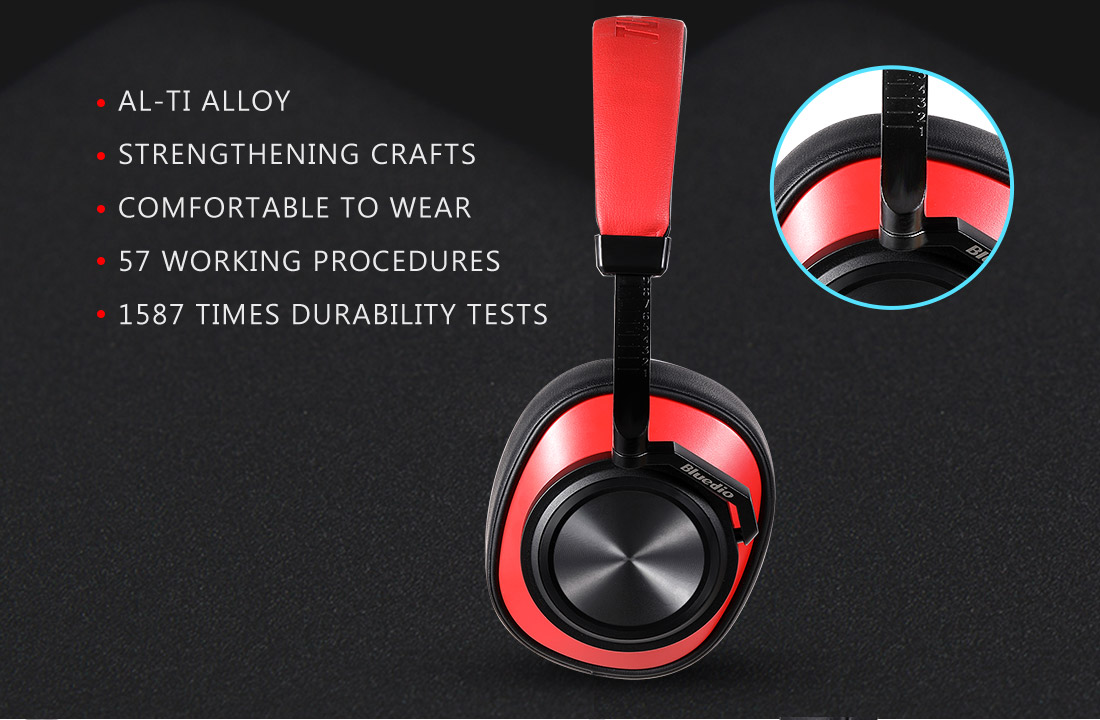 Bluedio T6 Active Noise Cancelling Headphone Wireless bluetooth 5.0 Headset Stereo Earphone with Mic