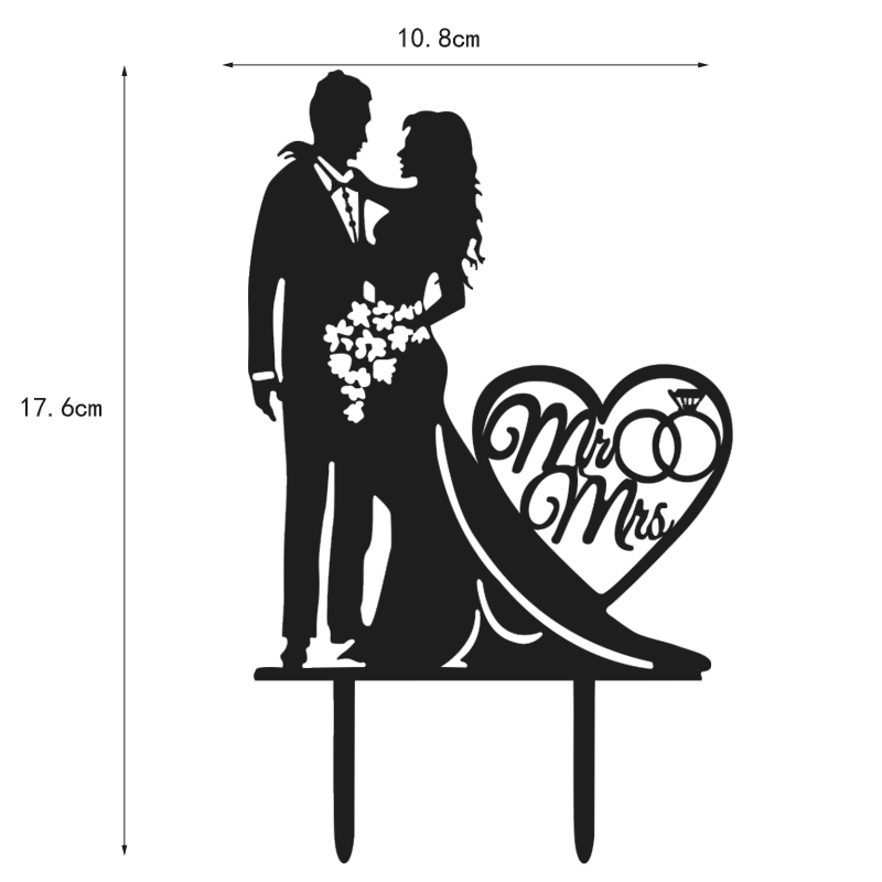 Acrylic Bride And Groom With Love Cake Cake Wedding Cake Decoration