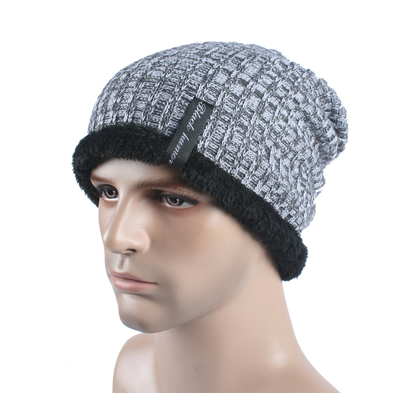 Men Solid Winter Warm Knitted Caps