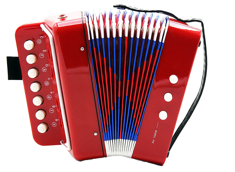 7 Key 2 Bass Accordion Educational Musical Instrument for Kid 103