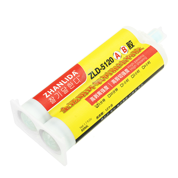 50ml AB Glue Quick Drying Transparent Epoxy Sealant Strong Adhesive for Plastic Ceramic Wood Stone