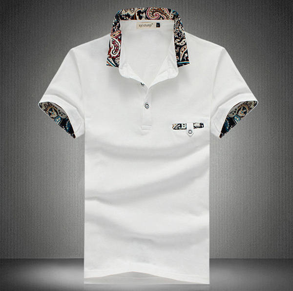 Mens Casual Cotton Sports Golf Shirt