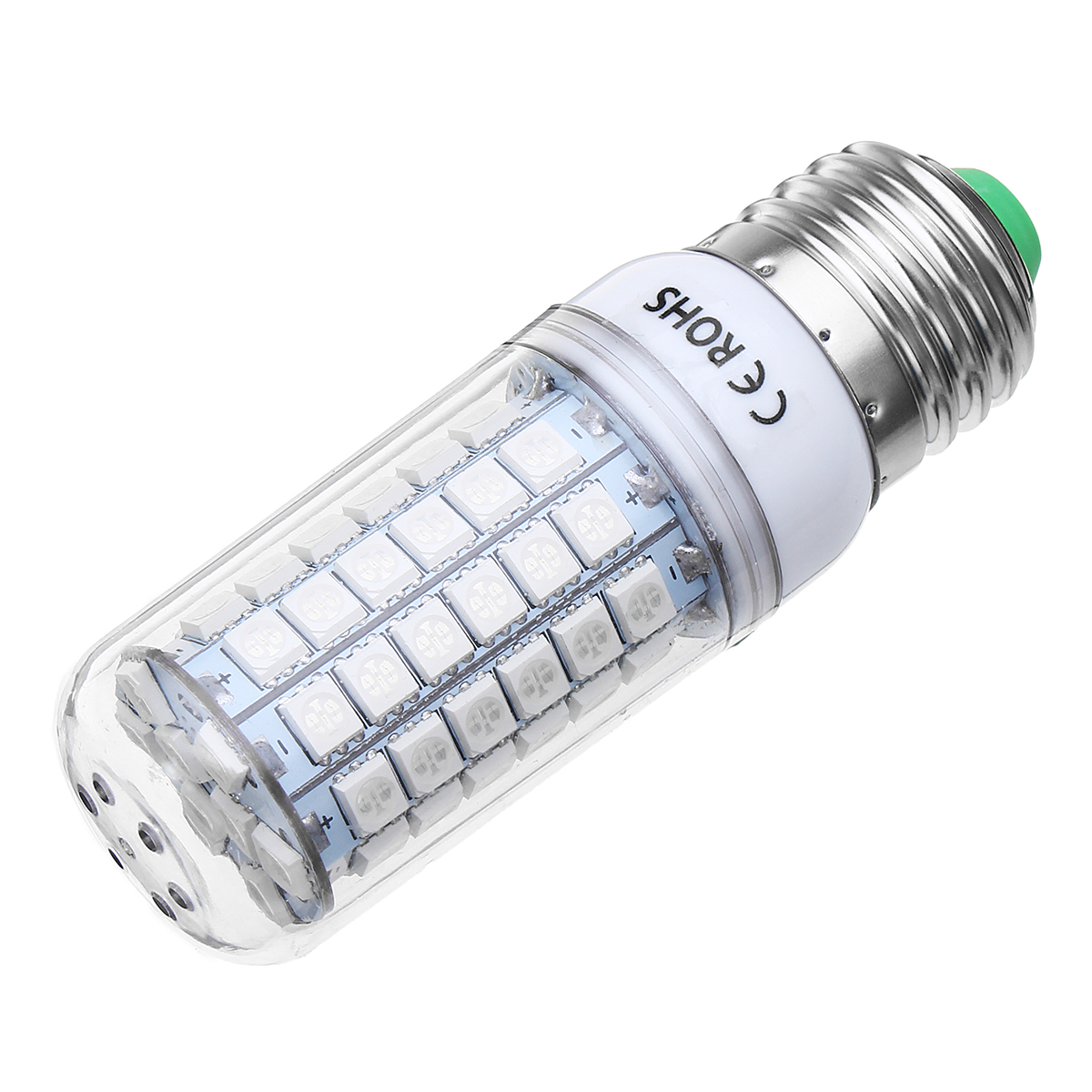 7W E27 B22 E14 Red Green Blue Non-Dimmable 5050 SMD LED Corn Light Bulb Spot Lamp AC220V