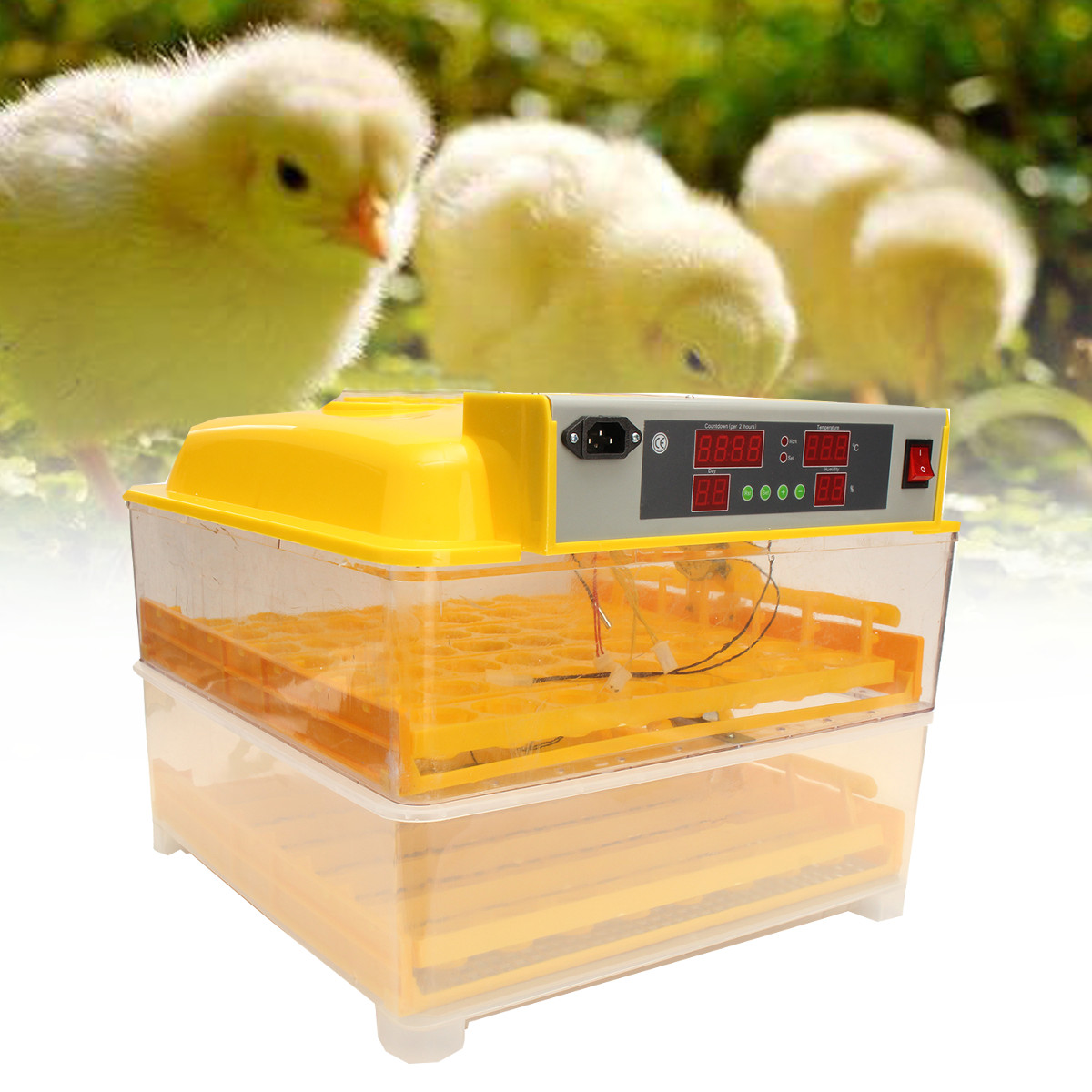 112 Fully Automatic Digital Egg Incubator Egg Hatcher Egg Turning Machine With Automatic System