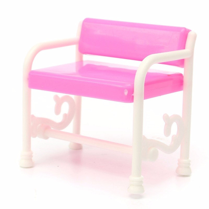 Lovely Dressing Table Chair Set for Barbies Dolls Dollhouse Bedroom Furniture Toys