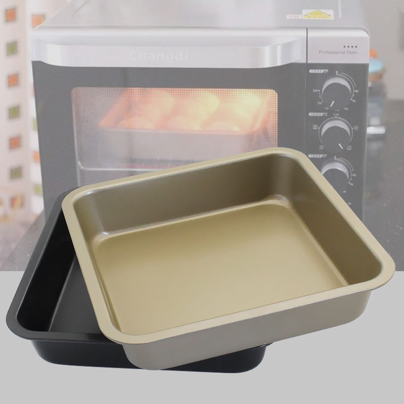KCASA KC-OP02 8 Inches Stainless Steel Non-stick Square Pizza Cake Mold Bread Cookie Tray Oven Pan
