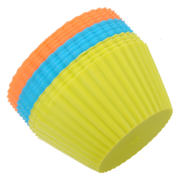 12Pcs Silicone Cake Muffin Chocolate Cup Cake Cups Mold Cake Cup Kitchen Bakeware Baking Pastry Tools