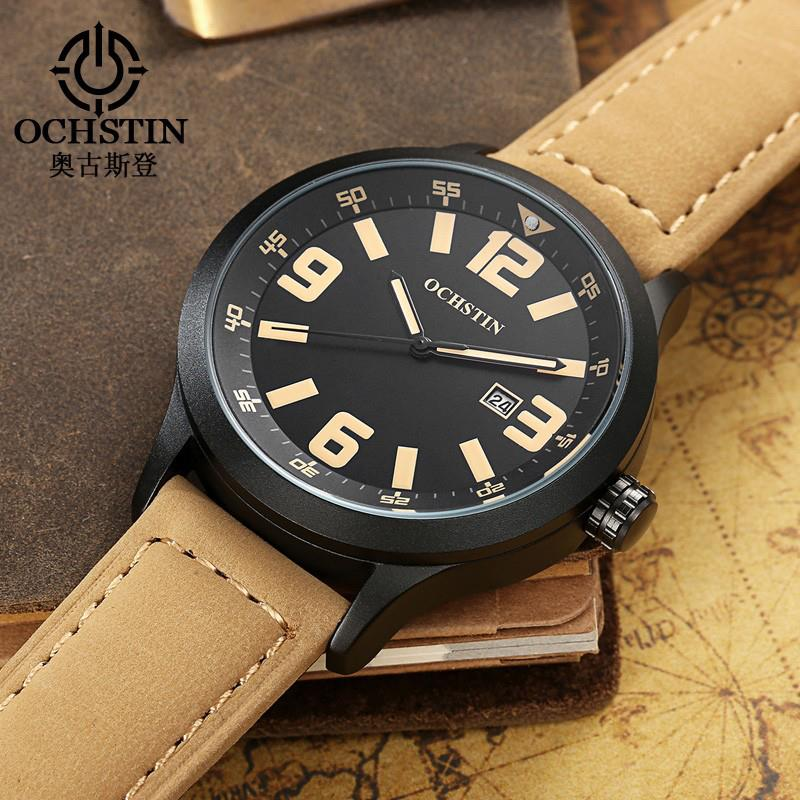 OCHSTIN GQ054 Fashion Men Quartz Watch Casual Large Numerals Display Wrist Watch