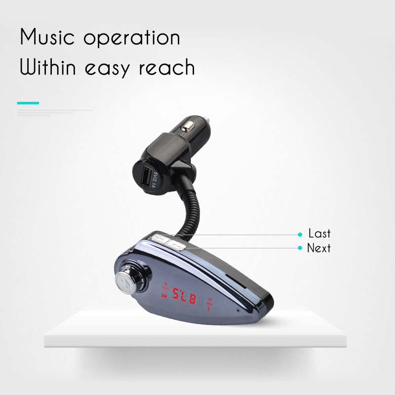 Car Kit Wireless Fm Transimittervs Radio Hands Free MP3 Music Player With bluetooth Function
