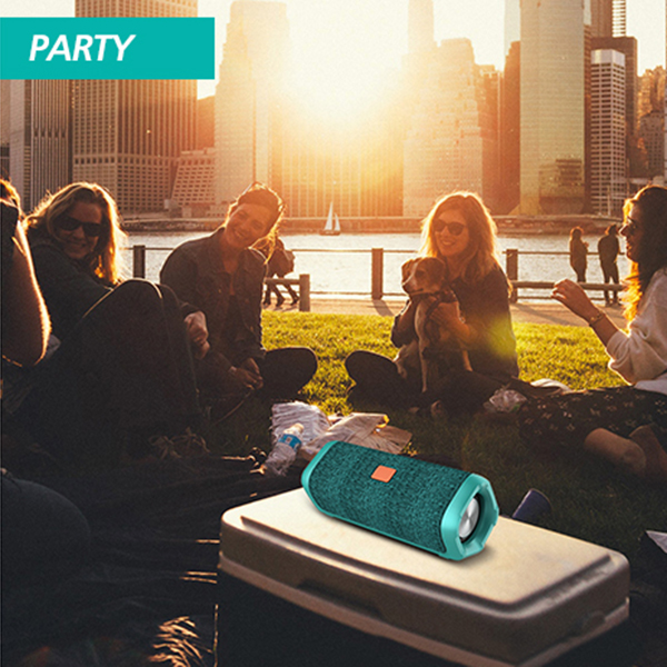 12W Portable bluetooth Speaker Double Units Handsfree Waterproof Outdoors Hoom Subwoofer